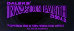 Daleks' Invasion Earth: 2150 A.D. - 1966